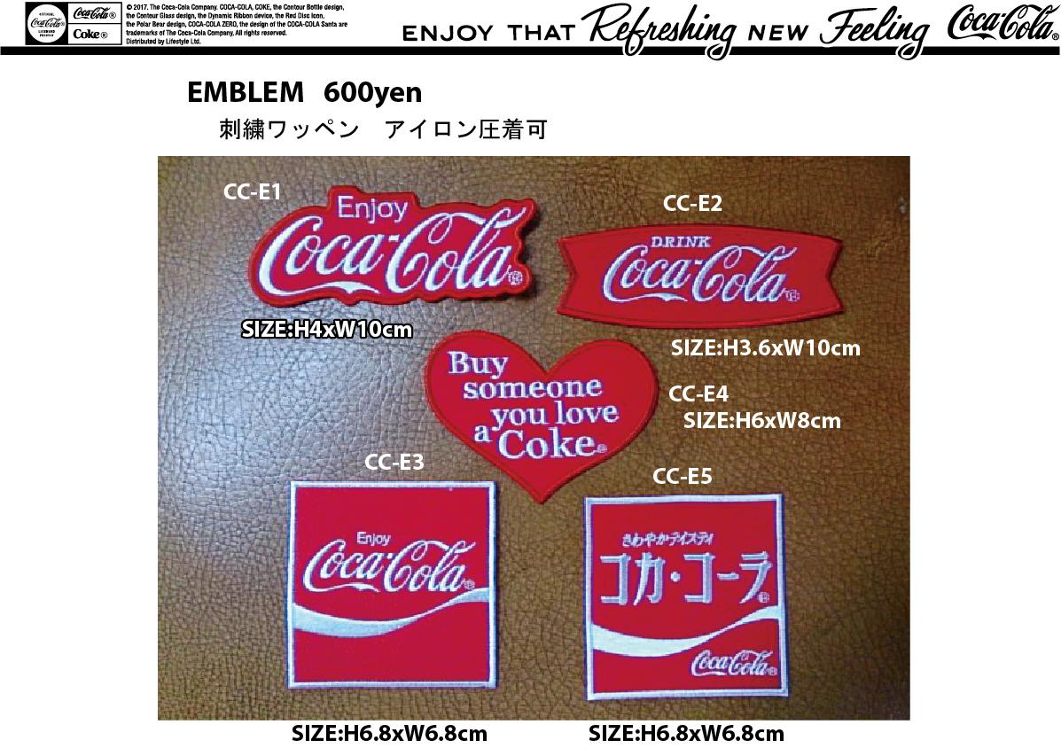 Coca-cola 新柄ワッペン 入荷のご案内