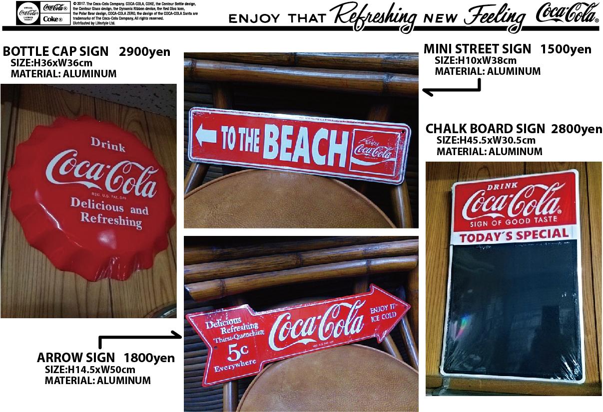 Coca-cola Tシャツ、アルミサインなど 入荷のご案内