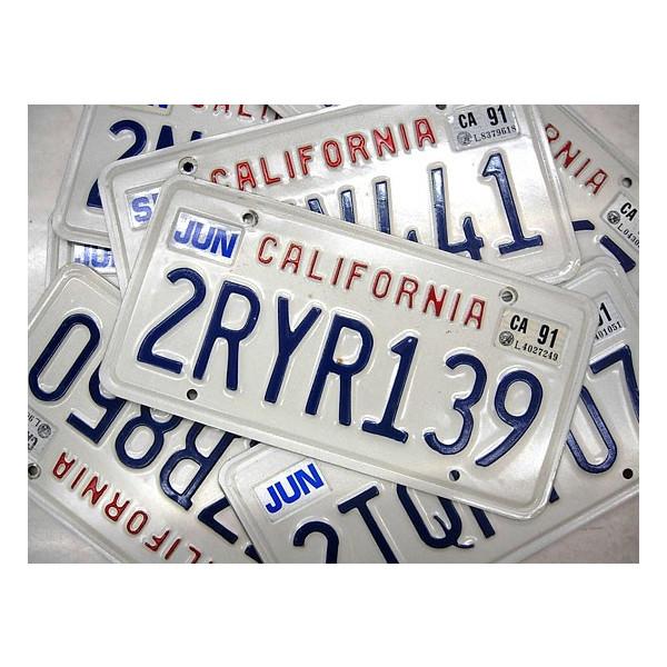 Californiaライセンスプレート(単品) 再入荷のご案内