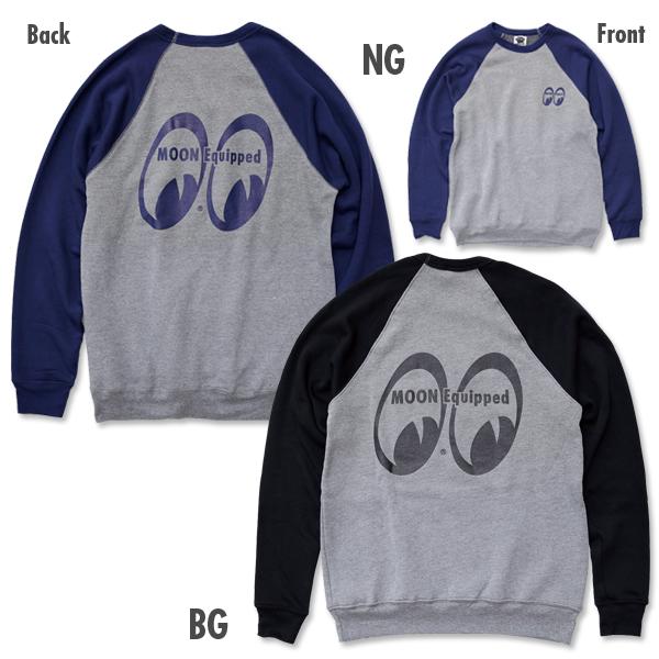 MOON Equipped ラグランスウェットシャツ 新商品のご案内