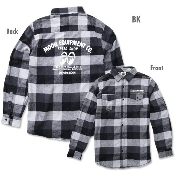 MOONEYES SpeedShopロングスリーブフランネルシャツ 新商品のご案内