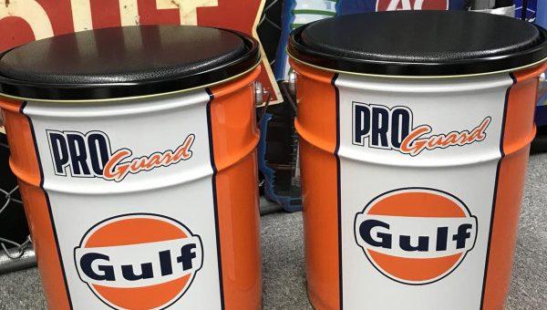 GULFオイル缶スツール 仕様変更 新柄登場のご案内
