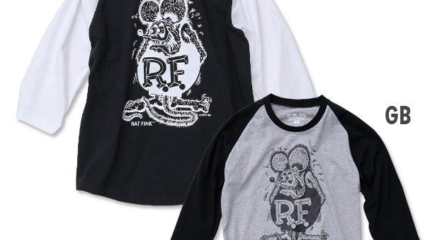 RatFink ラグラン3/4スリーブ Tシャツ 新商品のご案内 ラットフィンク