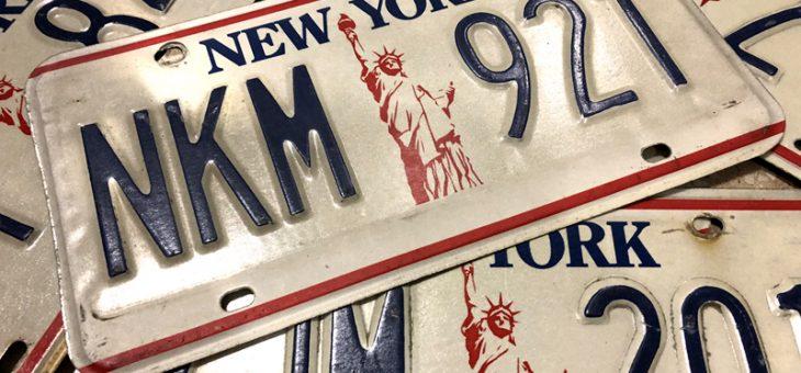 ニューヨーク州 ライセンスプレート お取り扱い開始のご案内