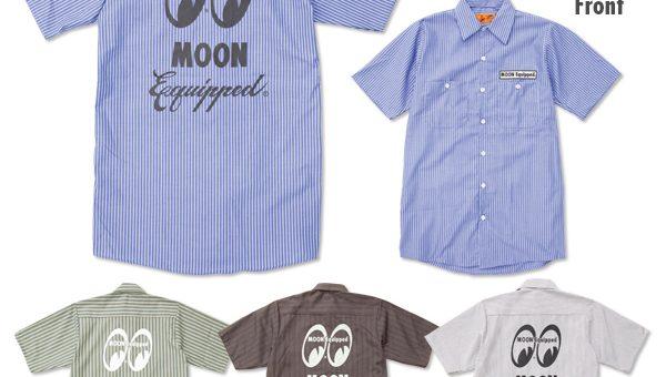 ムーンイクイップド RedKap ストライプ ワークシャツ 新商品のご案内 MOON Equipped MOONEYES ムーンアイズ