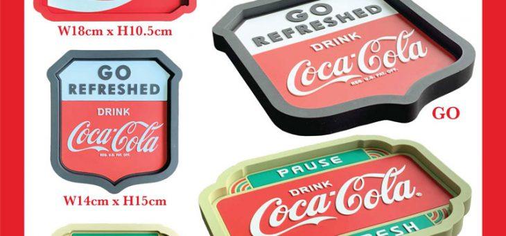 コカコーラ ラバートレイ、キーリング、キャップ 新商品のご案内 COCACOLA