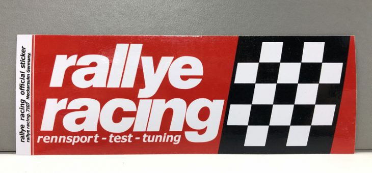 レーシングステッカー rallye racing ステッカー 新商品&再入荷のご案内