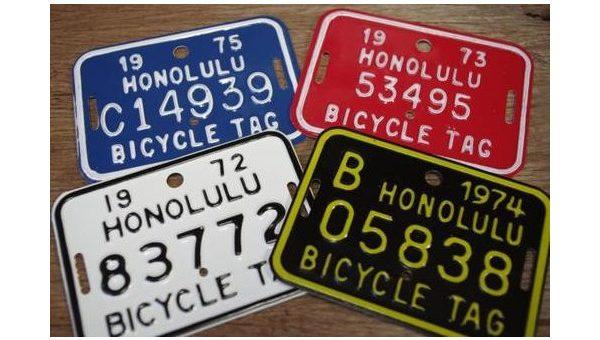 ハワイ ホノルル バイシクルプレート 再入荷のご案内 HAWAII HONOLULU