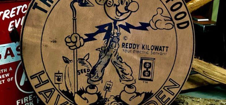 レディキロワット プライウッド看板 再入荷のご案内 ReddyKilowatt