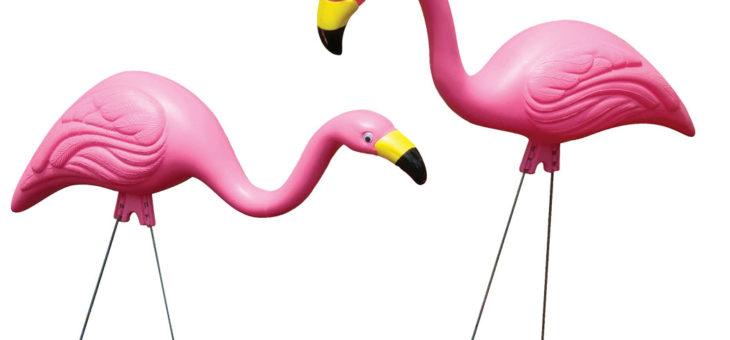 ピンクフラミンゴ 2体セット ガーデンデコレーション 限定入荷のご案内