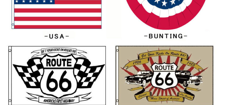 USA星条旗、ROUTE66 フラッグ 再入荷のご案内