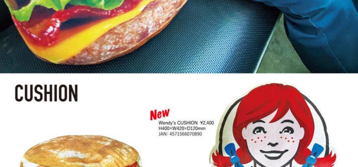 ダイカットクッション ハンバーガー・ウェンディーズ・SPAM 新柄・再入荷のご案内