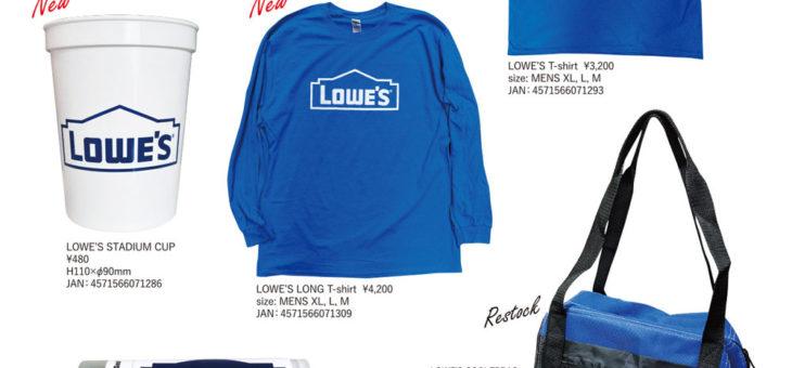 ロウズ オフィシャルアイテム 入荷のご案内 LOWE'S
